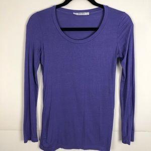 Zara Basic 100-% Cotton Purple Long Sleeve Top